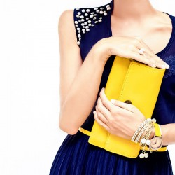 Yellow Patent Clutch
